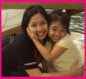 Mommy Jinky with Jamilla Saquing