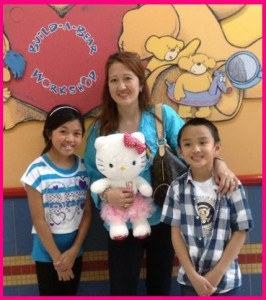 Mommy Jovet with Arielle and Gabriel Magana