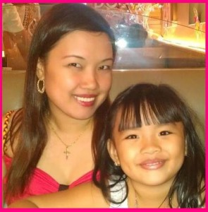 Mommy Katrina with Reanna Annika Nicolas, PH