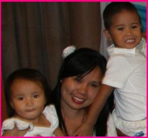 Mommy Maricris with Sophia and Otep Arce