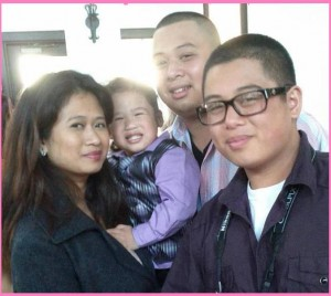 Mommy Romelia with Baby Jacob, Jeromee and Jerald