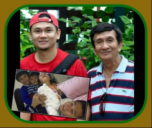 Daddy Emerson with Grandpa Eddie, EJ, Jeboy and Baby Euanne