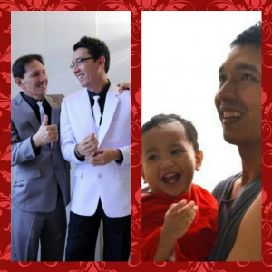 Daddy Russel with Grandpa Hajji and Baby Adam Castillo