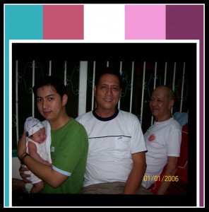 Tatay Ciso with Daddy Rolan, Daddy Ken and Baby Ethan