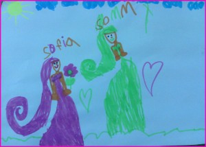 sofia's drawing for mom