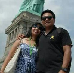 Marvin Nirza with wife, Celeste
