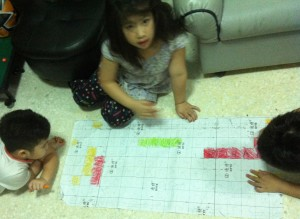 word games - one of the ways to ease their boredom during the rainy days