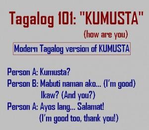 Tagalog 101- kumusta