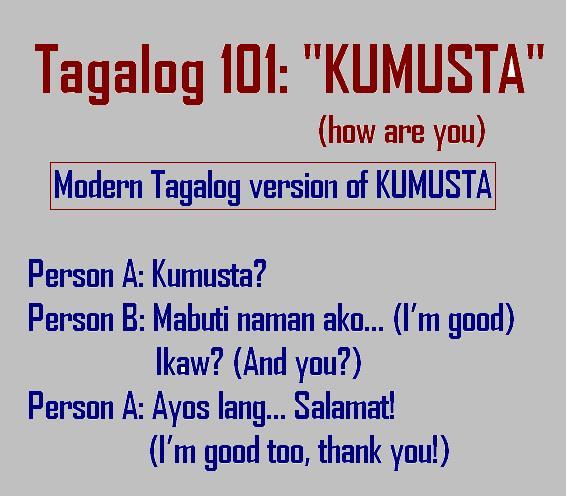 tagalog 101 kumusta