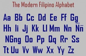 The Modern Filipino Alphabet