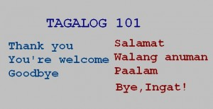 thank you, you're welcom, goodbye in tagalog