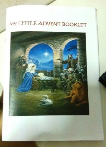 My Little Advent Booklet courtesy of the Holy Trinity Church
