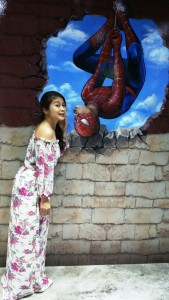 All right. Who can't resist spiderman kiss?